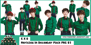 PNG Pack EXO Mericles In December by Yunie92er