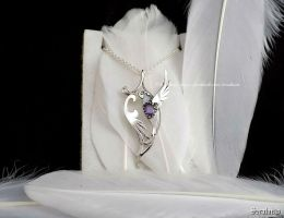 'Harmony', handmade sterling silver pendant by seralune