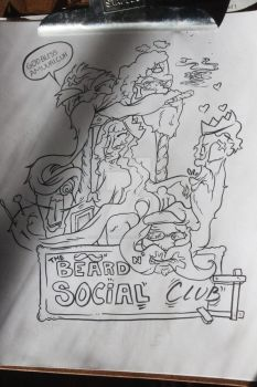 The Mustache and beard social club by Rebate-BrainVomit