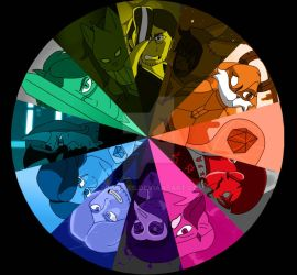 Paladins OCs COLOR THEORY  by toonsies