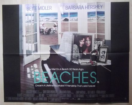 Beaches (1988) Original UK Quad by EspioArtwork