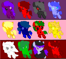Themed Adopts :SOLD OUT: by ShinySmeargle