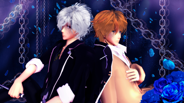 MMD  Subaru and Shuu (Chains and Roses) by ynn016