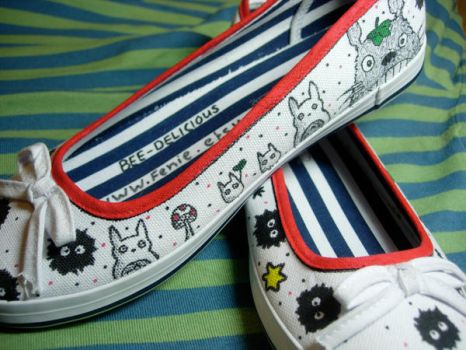 Studio Ghibli Shoes by Bee-Delicious