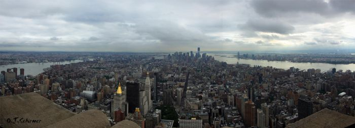 Manhattan panorama by Sockrattes