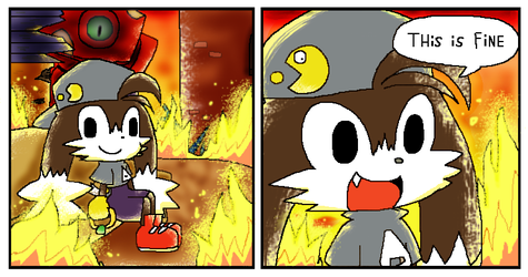 This Is Fine by malahayata