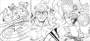 captain america sketch card rough pencils by CharlesEttinger