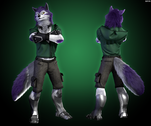 [commission] Katwolf for... by zorryn