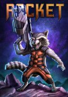 Rocket Racoon by markyongart