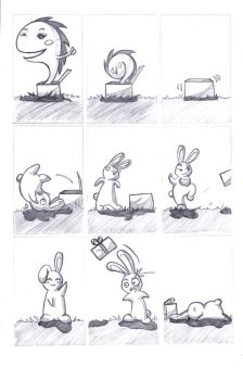 Mr. Bunny and the box 2 by NenaLuna