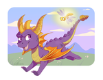 Spyro and Sparx by DVixie
