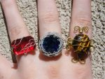 wire rings by gato-iskra