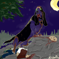 Undead-Basset by eworfle