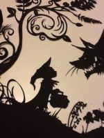 Red Riding Hood Paper Cut by PaperPandaCuts