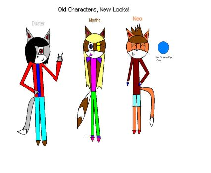 Old Characters, New Looks by TheFurryBallFoxy