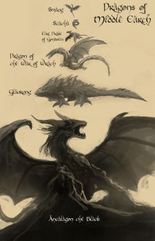 Dragons of Middle Earth by Montano-Fausto