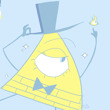 Color Palette Challenge - Bill Cipher by Sa-fico