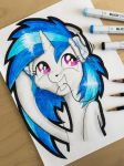 Vinyl Scratch Portrait by Helmie-D