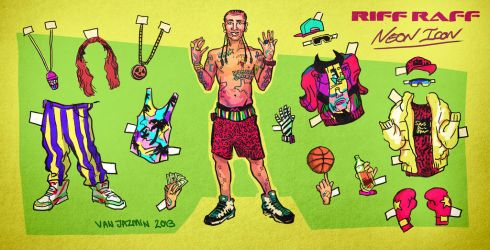 Riff Raff Paper Doll - Neon Icon by fig13