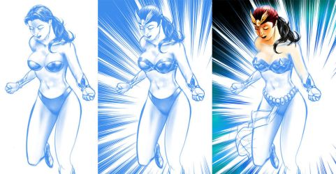 Darna Comics Panel ( Early Stages ) by waversphils