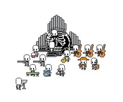 Skeleton Orchestra (Aug 2013) by emimonserrate