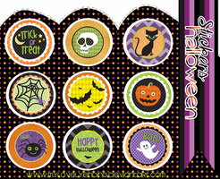 HALLOWEEN stickers by mylovelyending