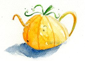 Halloween 'ronfing' tea pot by Tissi76
