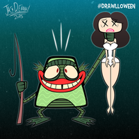 Drawlloween 19 - Creature From The Black Lagoon by Moon-manUnit-42