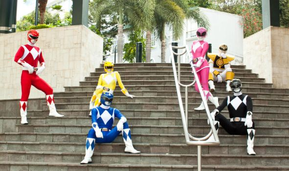 Mighty Morphin Power Rangers by aomerei