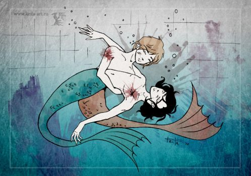 and then we became mermaids by Keila-the-fawncat