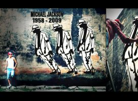 Michael Jackson Graffiti by byCavalera