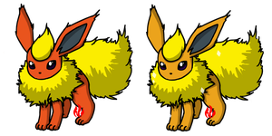 Pokemon #136 - Flareon by Fyreglyphs