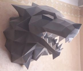 Stark Wolf Papercraft,Game of Thrones - 3D model by Lyzwinx