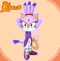 Blaze the Cat in MS Paint by anthey925
