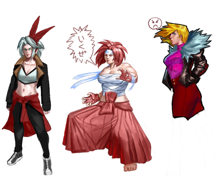 Ebb and Flow characters by Rhydwyn