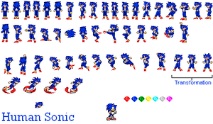Human Sonic Sprite by dratinifan13