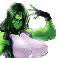 she hulk by Spacezin