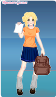 Annabeth going to school by kameo021