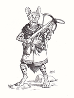 ''Daily'' sketch - Serval Crossbowman by 0laffson