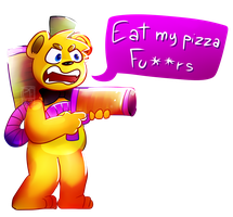 Pizza shooter by PaperFoxy87