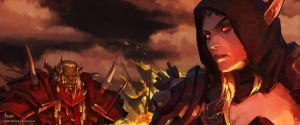 Keyframe for the latest cinematic of World of Warc by bayardwu