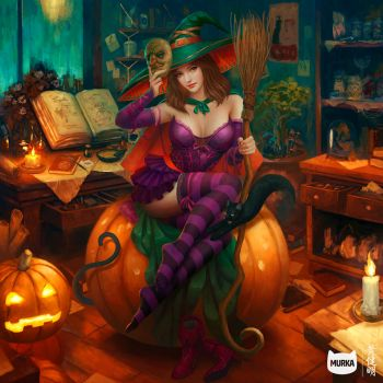 The Pumpkin 'Witch' by MarioWibisono