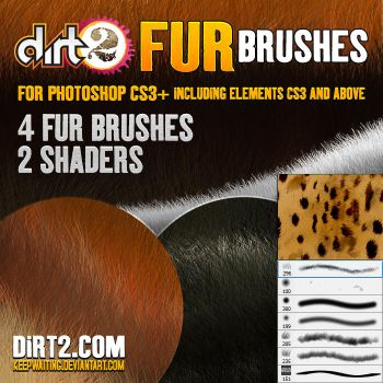 FUR BRUSHES - PHOTOSHOP CS3 by KeepWaiting