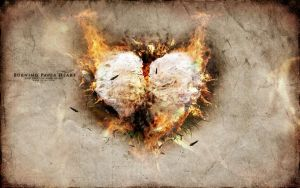 Burning Paper Heart v2 - FREE PSD by 5p34k