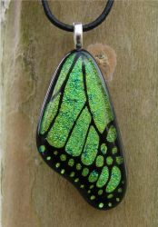 Light Green Glass Wing by FusedElegance