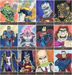Superman: The Legend Sketch Cards 13-24 by AtlantaJones