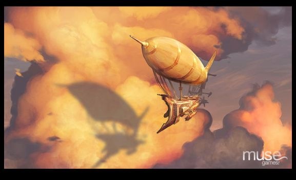 Airship in the Clouds by musegames