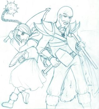 Skuld and Ragnar by reve