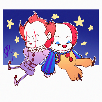 Sleepy clowns by XxLevanaxX