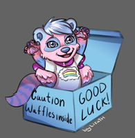 Caution: Waffles inside by lizathehedgehog